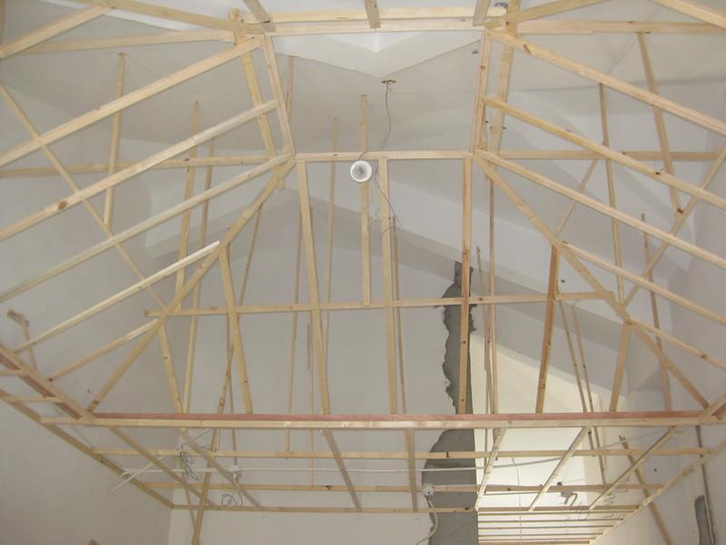 客厅吊顶的龙骨架