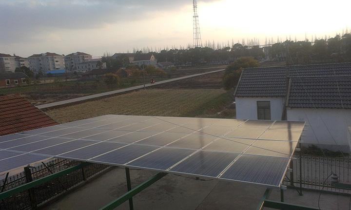 中电光伏易上海崇明岛10kw电站-中电光伏易成功案例