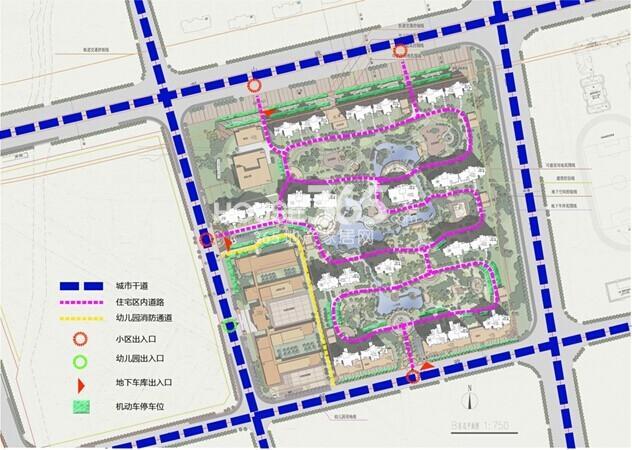 雅居乐中央府交通流线分析