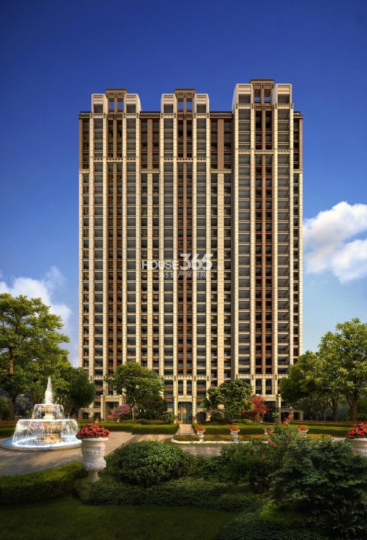 中海御道路一号高层公寓单体效果图