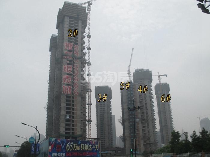 理想银泰城项目2—6号楼施工进程图(2015.6)
