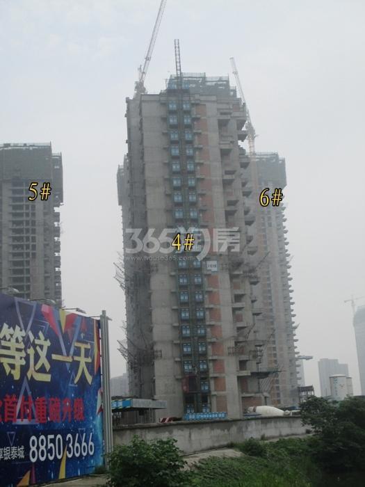 理想银泰城项目4、5、6号楼施工进程图(2015.6)