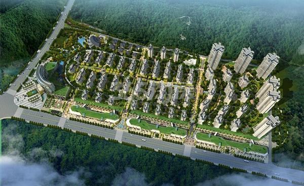 硕泰国际温泉城鸟瞰图
