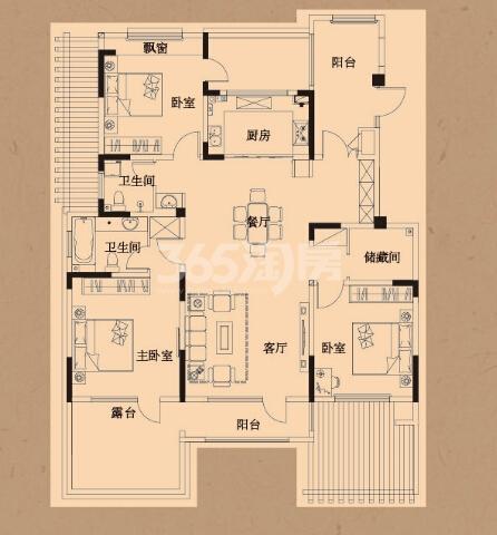 荣盛鹭岛荣府147㎡户型图