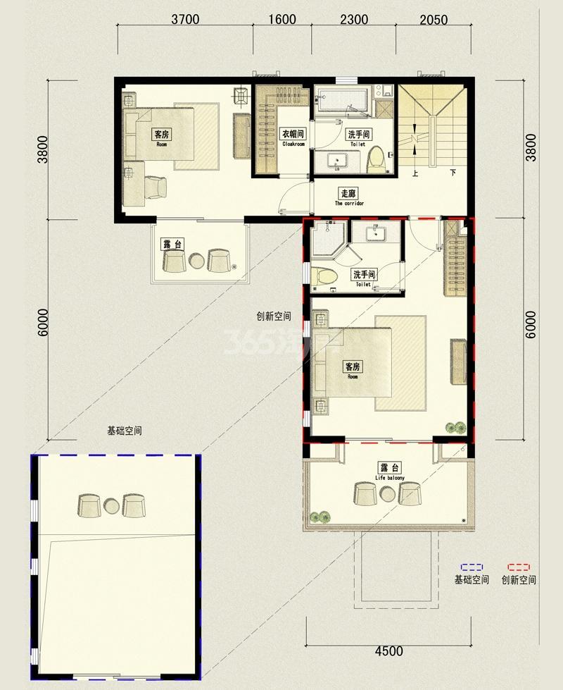 万科坤和玉泉类独栋晓礼院4单元101二层