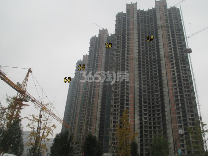 理想银泰城项目1、3、5、6号楼施工进程图(2015.11)