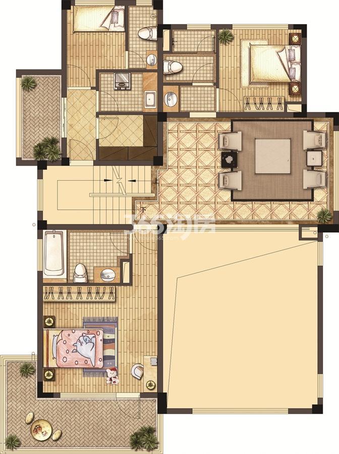 武夷绿洲沁荷苑H4二层平面图