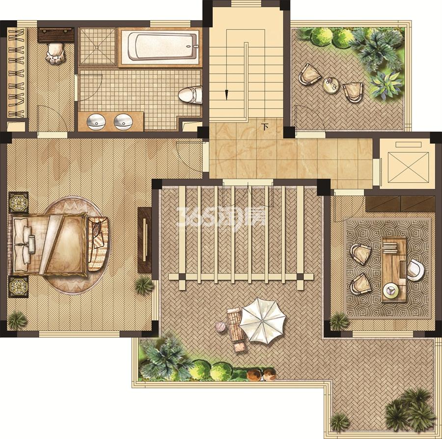 武夷绿洲沁荷苑H5三层平面图
