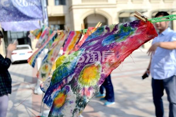 4月30日东方蓝海艺术扎染活动现场