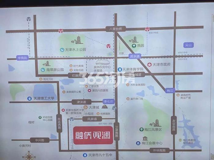 融侨观澜交通图