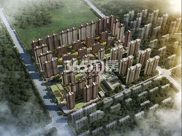 华远海蓝城五期鸟瞰图