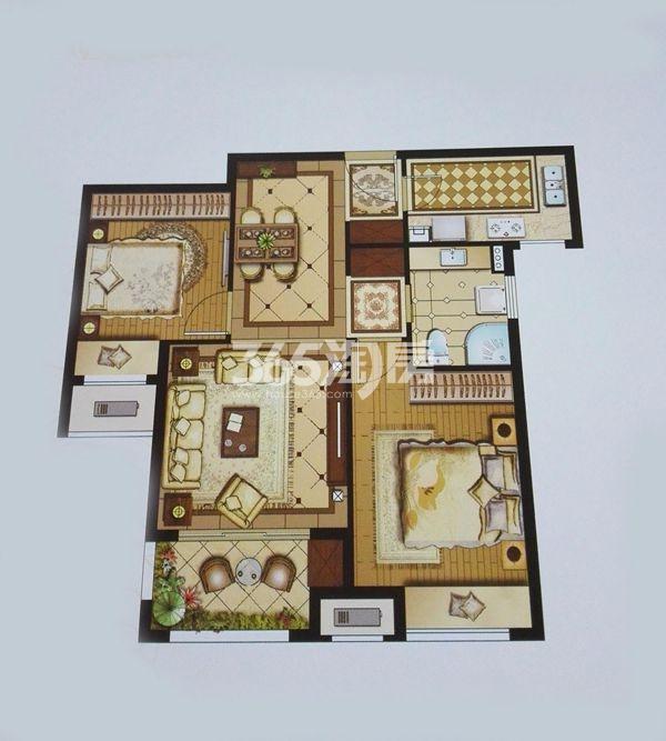 盛世孔雀城84㎡两房两厅一卫
