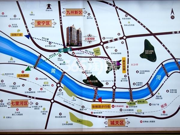 上层观邸交通图