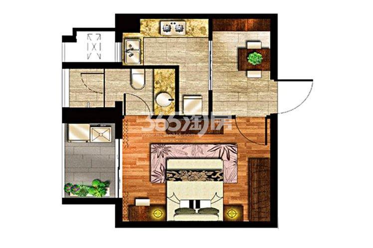 绿地璀璨天城公寓54平户型图