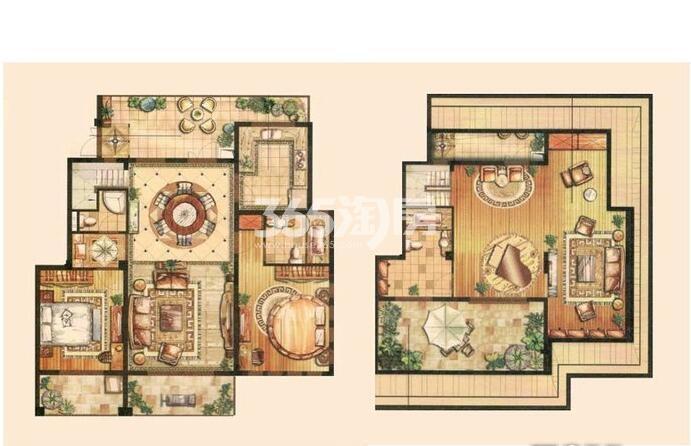 金科世界城203平洋房户型图