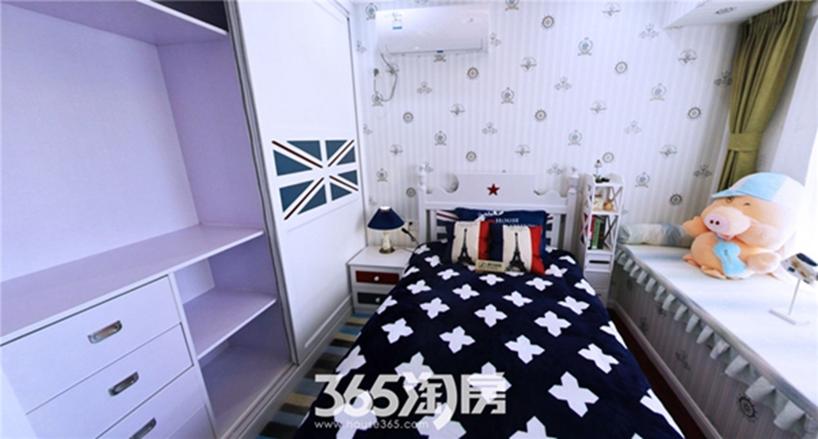 东方蓝海B1户型约115㎡样板间-卧室