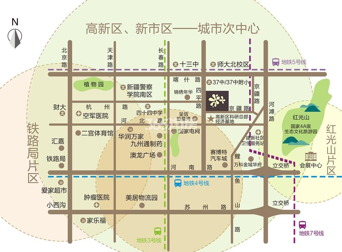 金茂城市花园交通图