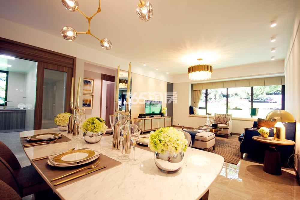 雅居乐国际花园二期128方样板房——餐厅