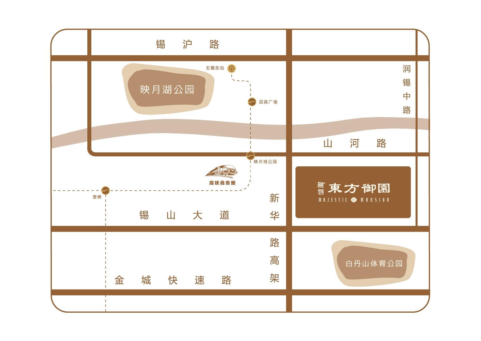 融创东方御园交通图