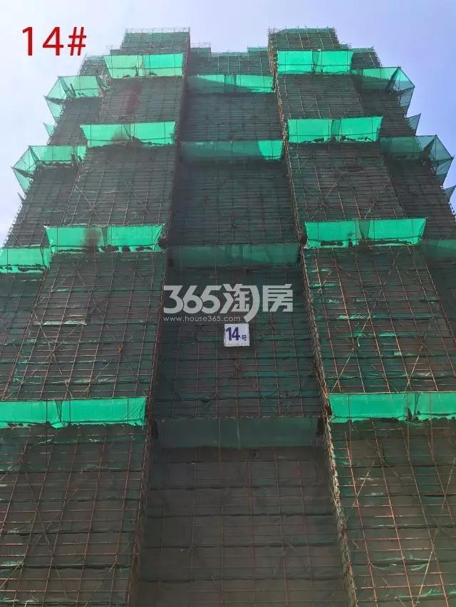 海玥名都14号楼已经封顶(7.20)