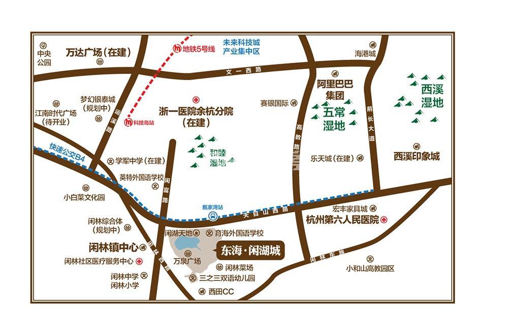 东海闲湖城华景湾交通图