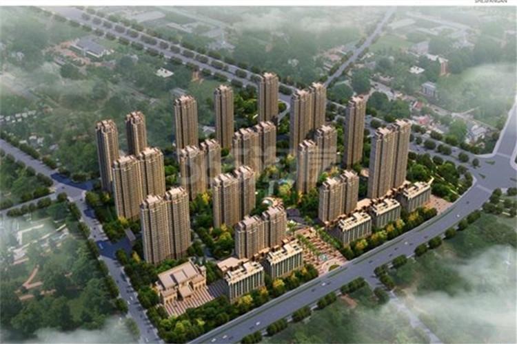 胜锦尚城国际鸟瞰图