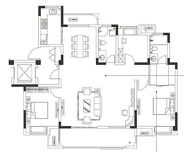 中锐星尚城C2户型 四室两厅两卫 139.49㎡