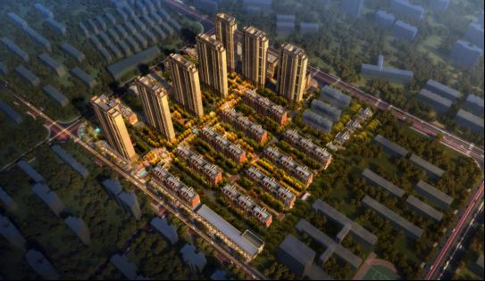 绿地理想城悦湖公馆项目鸟瞰