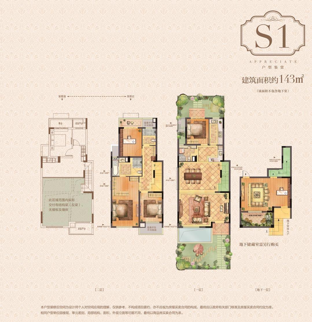 荣里S1-143㎡叠墅户型图