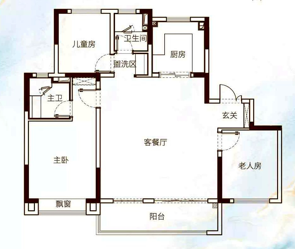徐州富春山居A户型(134㎡)