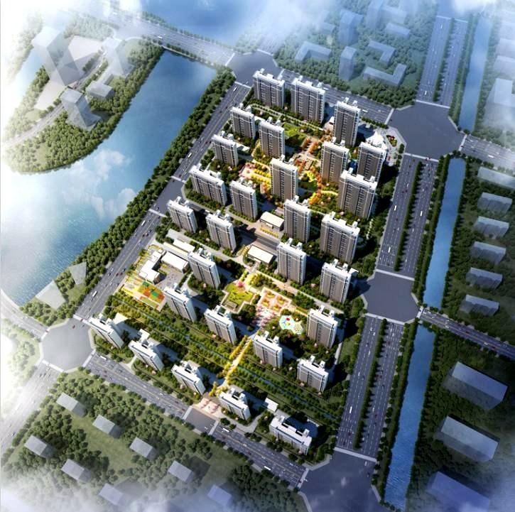 美的东湖天城鸟瞰图