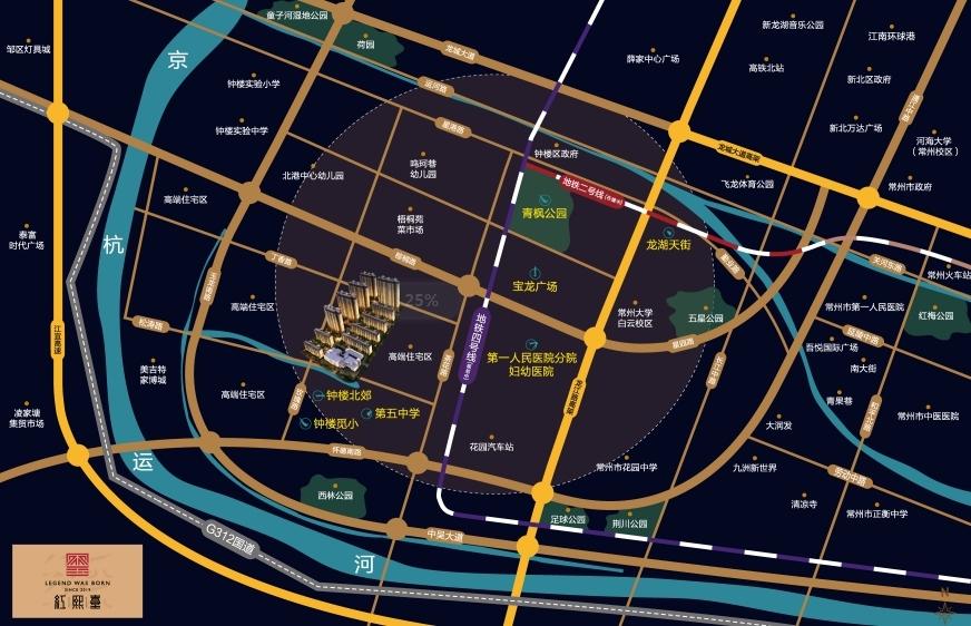中南红熙台交通图
