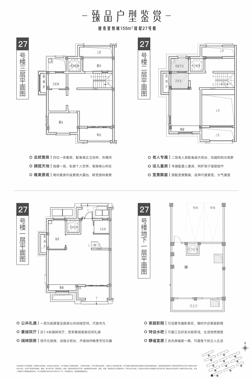越秀星悦城155方排屋户型