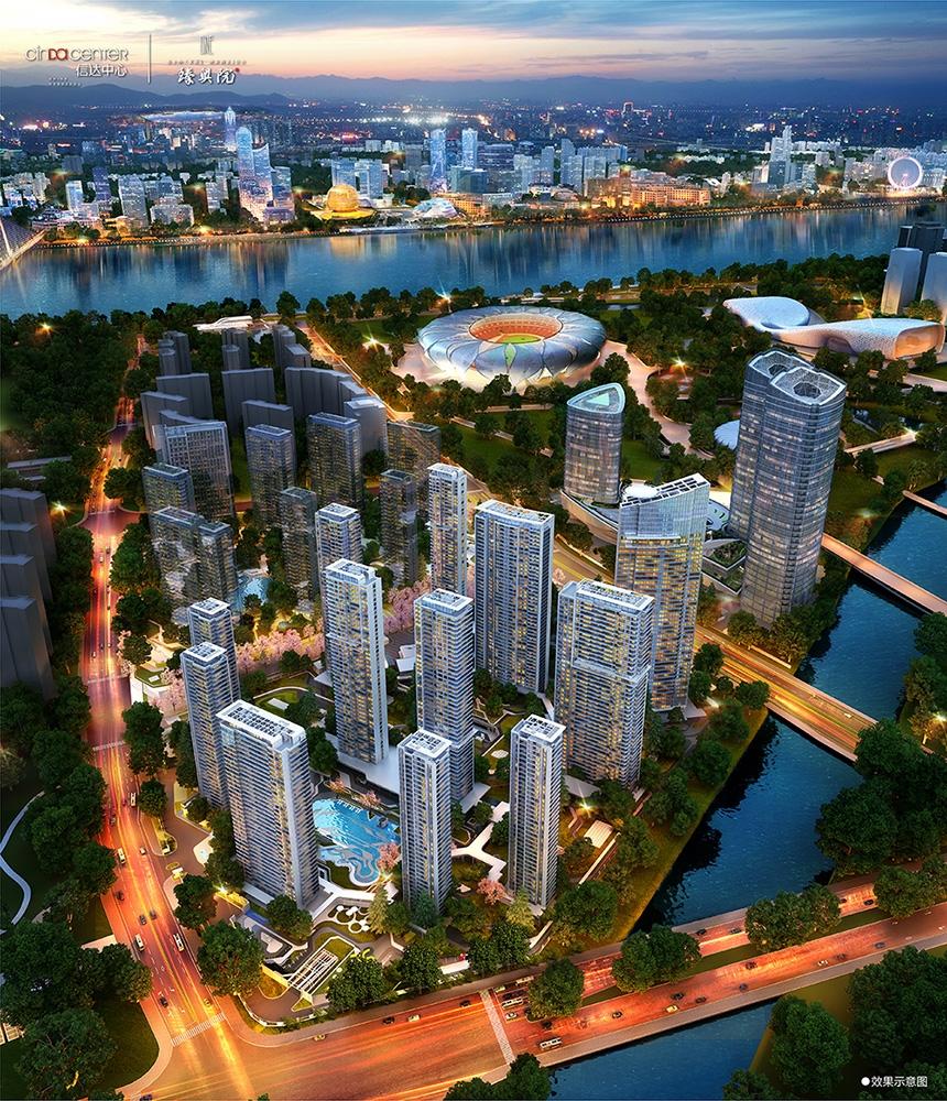 信达中心|杭州壹号院二期鸟瞰图