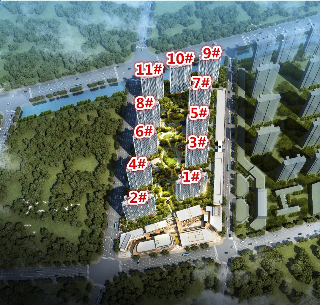锦绣樾江府鸟瞰图