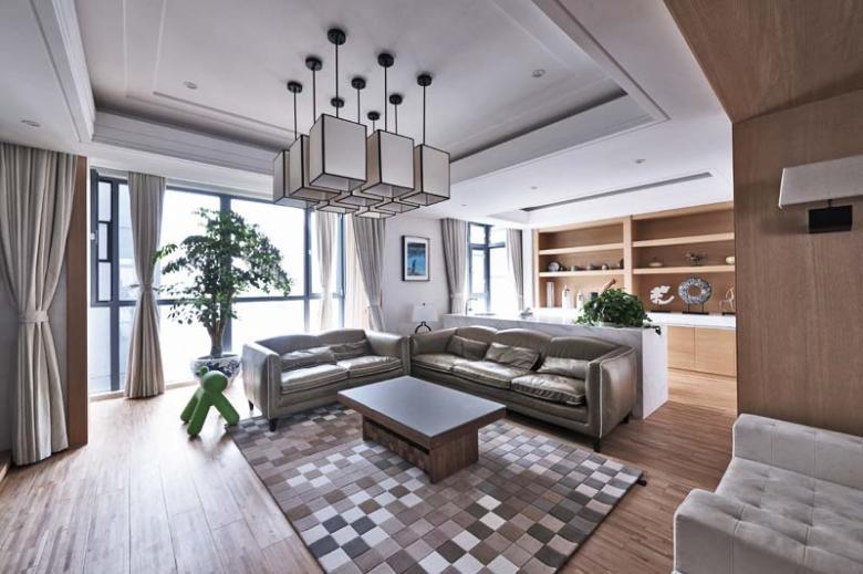 现代简约风格客厅装修效果图之顶部设计