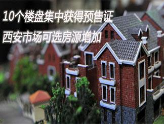 10个楼盘集中获得预售证 西安市场可选房